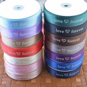 Love-Forever-Printed-Satin-Ribbon-Love-Hearts-Card-Wedding-Party-Deco-25mm-25Y