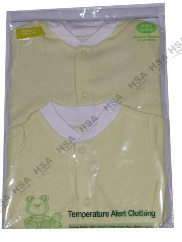Newborn 6 Months Baby Boy//Girls Temperature Alert Clothing,2 Pack Sleepsuits