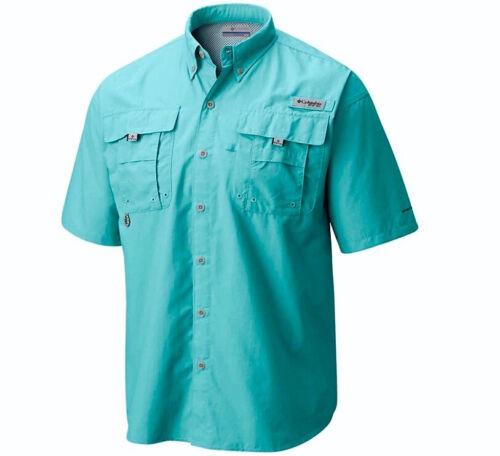 NEW COLUMBIA Mens PFG Bahama II Short Sleeve Vented Fishing Shirt UPF 30