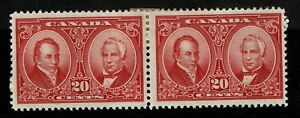 Canada-SC-148-Pair-Mint-Hinged-Large-Hinge-Remnant-S2697