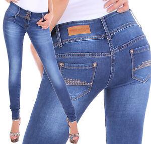 Das Bild wird geladen Damen-Stretch-Jeans-Hose -Roehre-Roehrenjeans-Skinny-Slim- c856b7a320