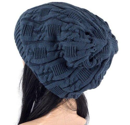 Femmes Automne Hivers Tricot Chapeaux Rayures Double Deck skullies Chapeaux pour femmes