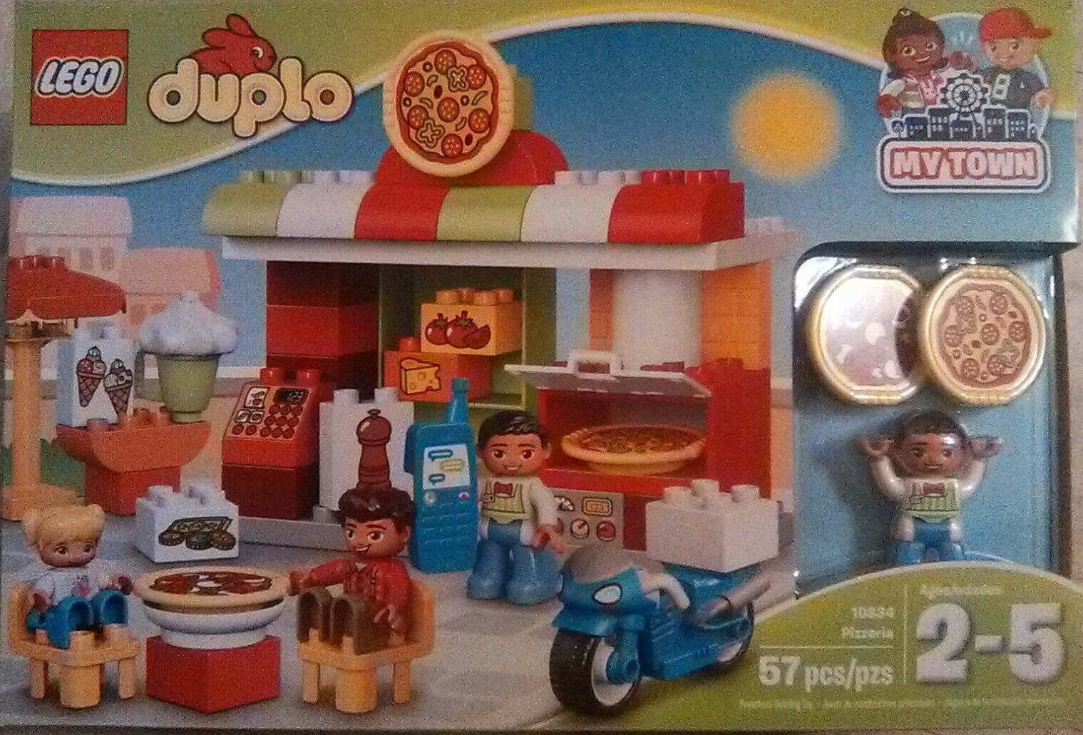 Brand New Lego Duplo Set Pizzeria 57 pieces 10834