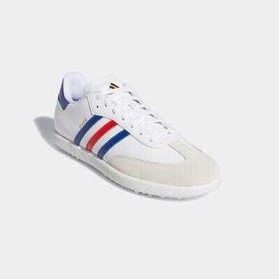 New Adidas Samba Golf Shoes G28382 - White/ Red/ Blue, Athletic Trainer Sneaker | eBay