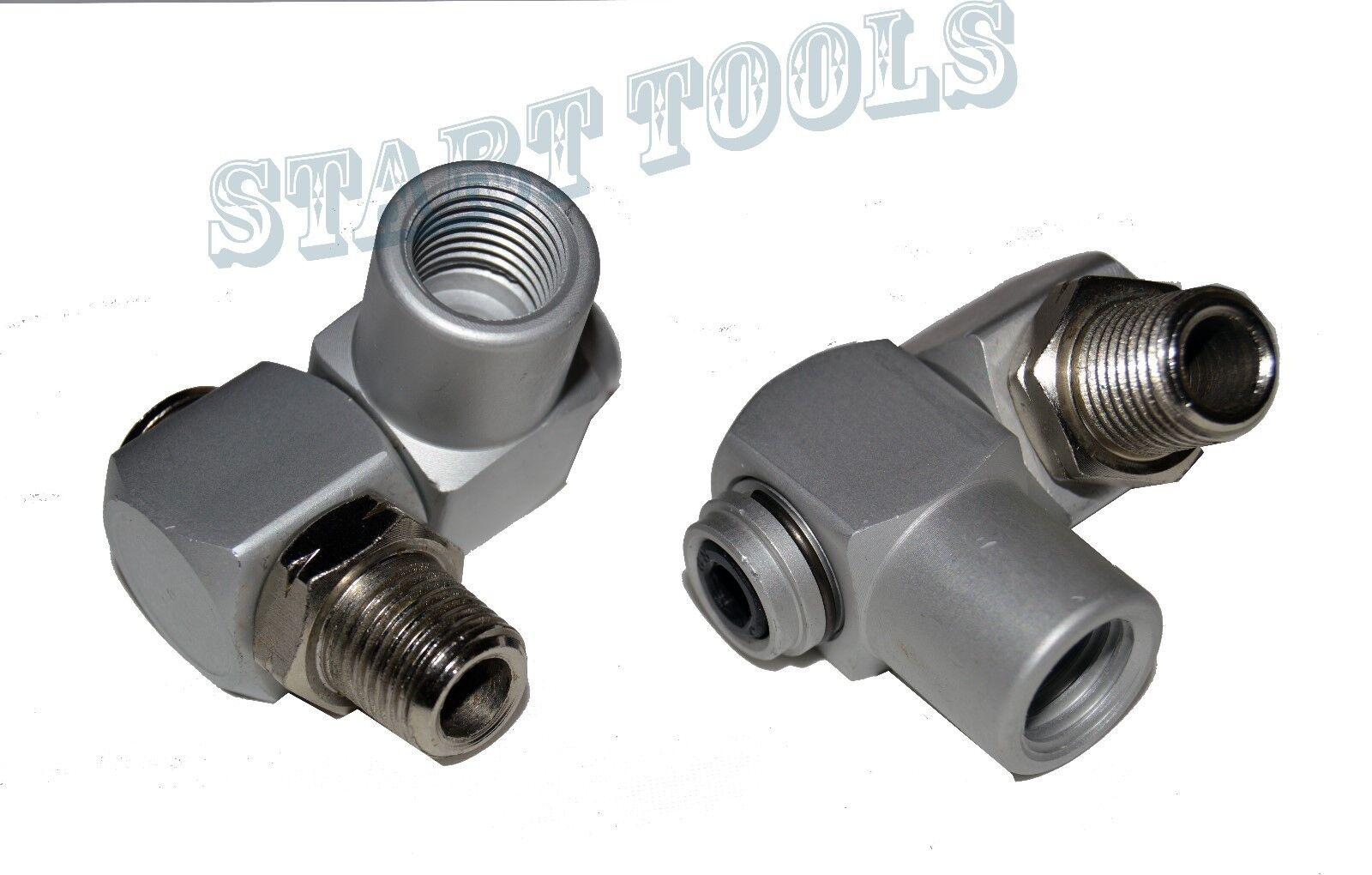 (2) Industrial Aluminum Air Swivel Fitting Connectors Hose Tool Coupler 1 4  NPT