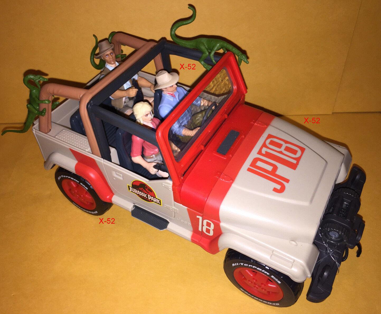 JURASSIC PARK toy JEEP WRANGLER car JP18 + 3 FIGURE lot TOY jurrasic world