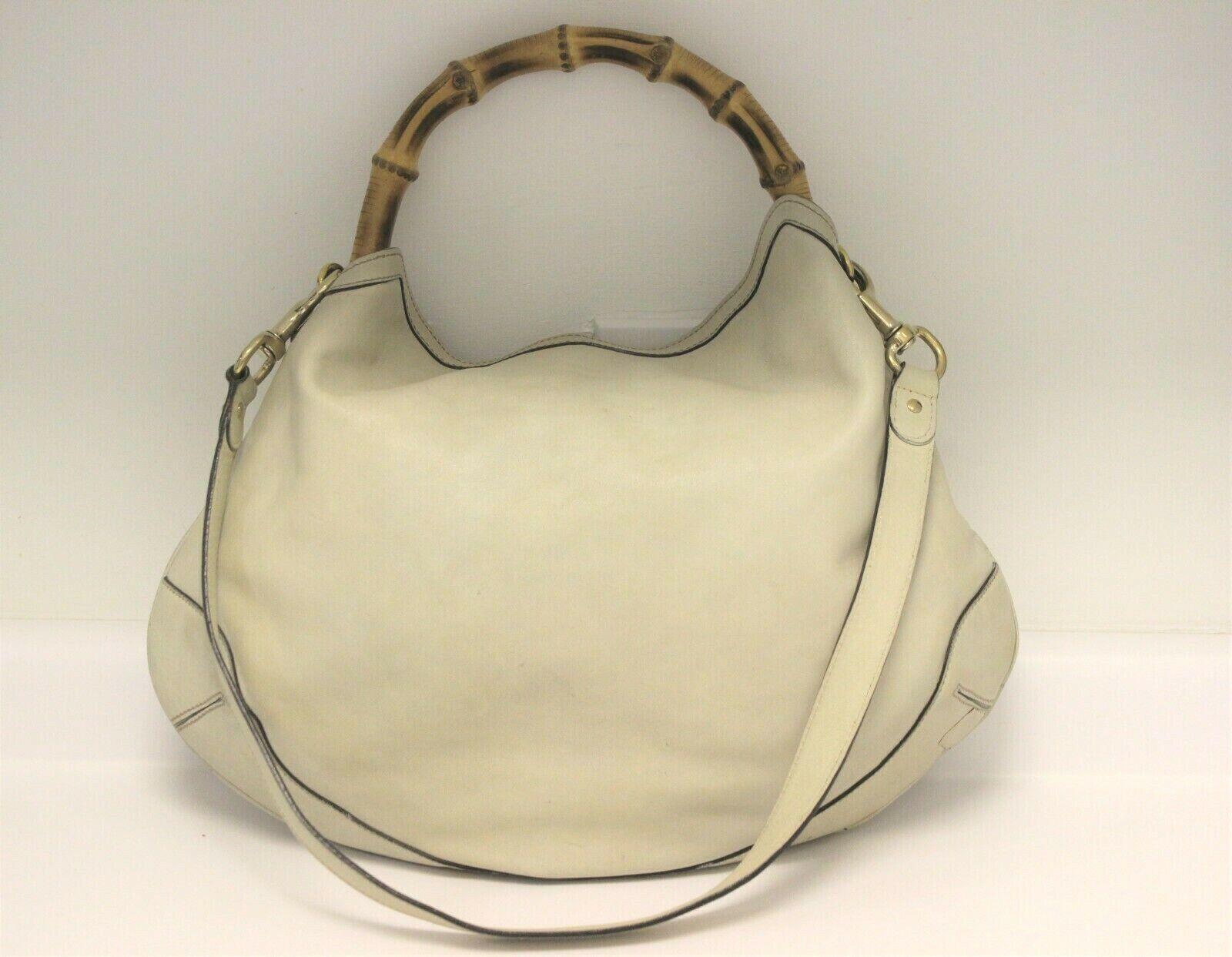 GUCCI Calfskin Peggy Bamboo Top Handle Hobo Bag -… - image 1