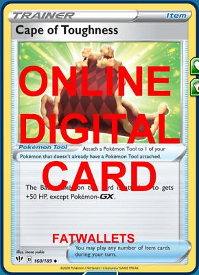 4 x Pokemon SWSH3 Darkness Ablaze Cape of Toughness Trainer Cards 160//189