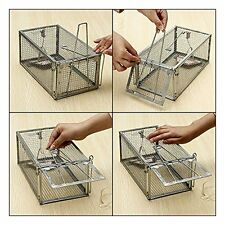 One Door Animal Trap Steel Cage for Small Live Rodent Control Rat Mice SquirrFS