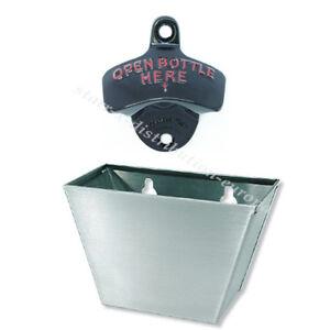 USA-STARR-X-Wandflaschenoeffner-Set-m-70er-Korkenbox-Made-in-USA-aus-Edelstahl
