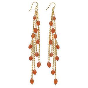14-Karat-Gold-Plated-Brass-Shoulder-Duster-Earrings-with-Carnelian