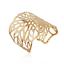 Retro Women Lady Gold Hollow Flower Punk Cuff Bangle Open Wide Bracelet Jewelry