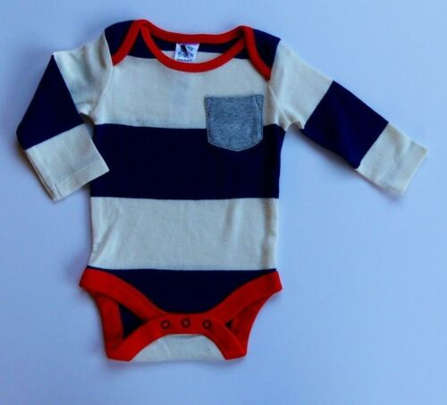 Baby Boden Garçons Rayure Simple gilets body//corps à manches longues entièrement neuf sans étiquette