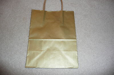 20 Brown Paper Party Bags Twisted Handles 18x25+8cm Wedding Birthday Gift