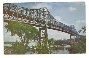 BOSTON-MA-Mystic-River-Bridge-Vintage-1952-Postcard