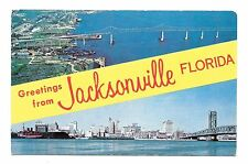 (E) Greetings From Jacksonville, Gateway to Florida View of Mathews Bridge