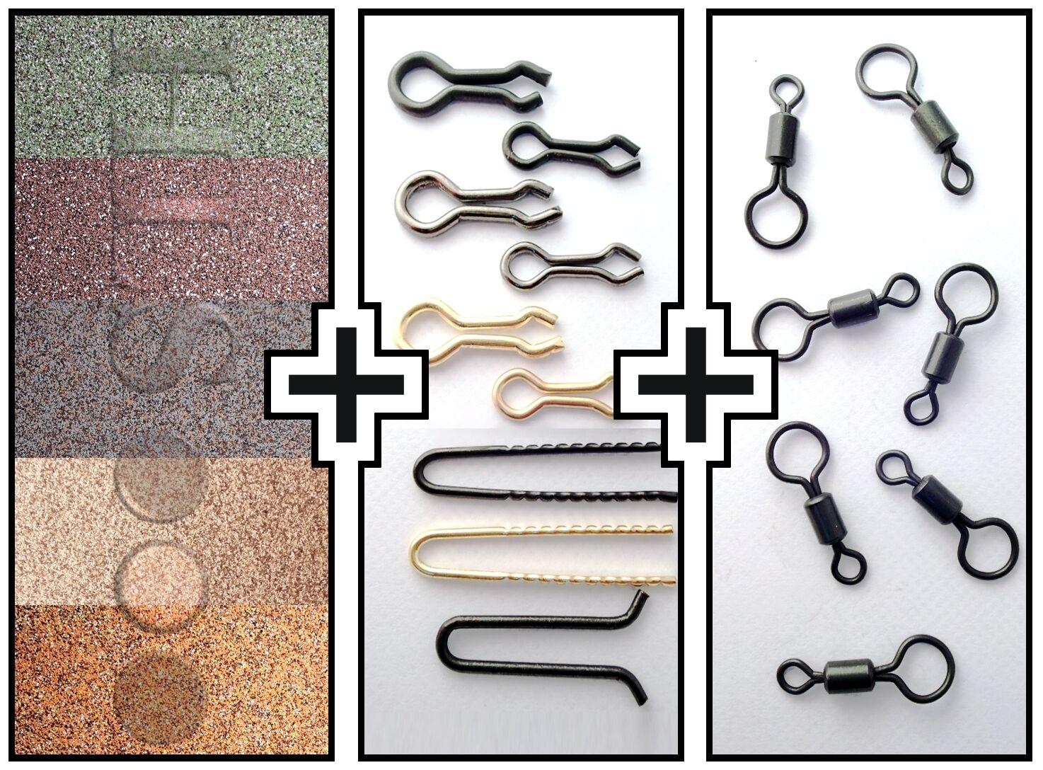 Lead making kit - Lead coating powder + Lead loops + Large eye swivels HLS
