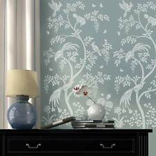 Chinoiserie Birds and Berries Wall Mural Stencil - Stencils for DIY Home Decor