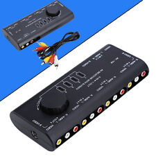 4 in 1 Out Audio Video Signal Switcher Splitter Selector AV RCA Switch Box