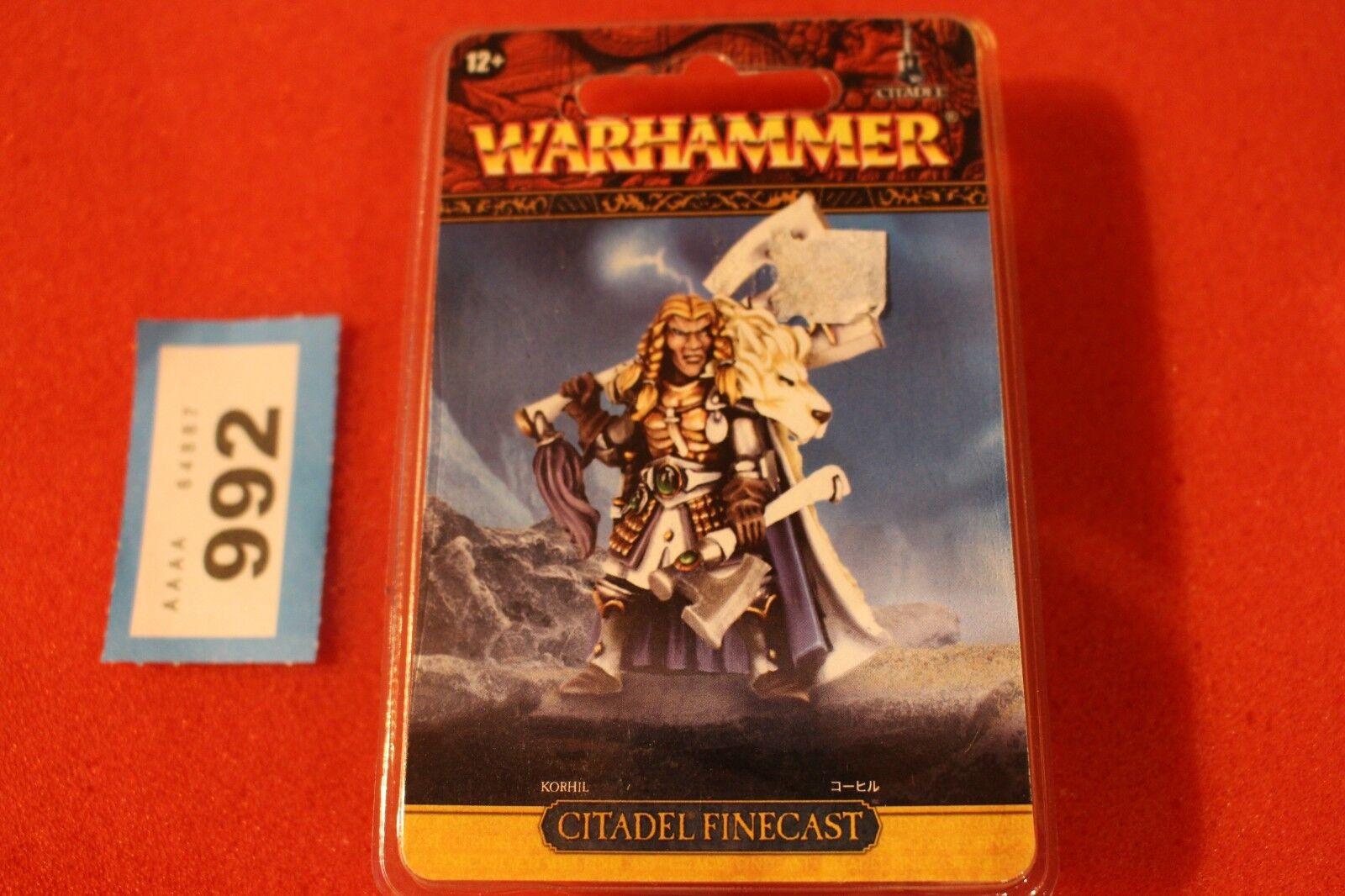 Games Workshop Warhammer High Elf Prince Korhil White Lions Finecast OOP New GW