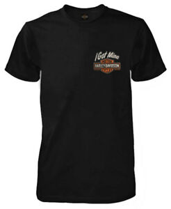 Harley-Davidson-Men-039-s-I-Got-Mine-B-amp-S-Short-Sleeve-Crew-T-Shirt-Black-R002678