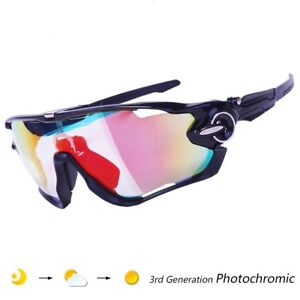 a9a184bbb7 Image is loading Photochromic-Glasses-Cycling-Goggles-Eyewear-Lens-Bike- Outdoor-