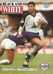 Widnes v Bradford  Division 1  199091 - <span itemprop=availableAtOrFrom>Warrington, United Kingdom</span> - Widnes v Bradford  Division 1  199091 - Warrington, United Kingdom