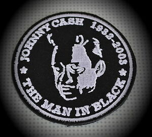 Johnny-Cash-Patch-Aufnaeher-Aufbuegler-Country-Rockabilly-The-Man-In-Black