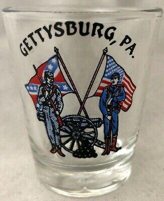 GETTYSBURG PA CIVIL WAR WOODEN SHOT GLASS NEW