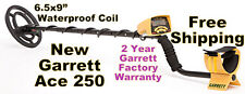 "NEW Garrett Metal Detector Ace 250  with 6.5x9"" Waterproof Coil * Free Shipping"