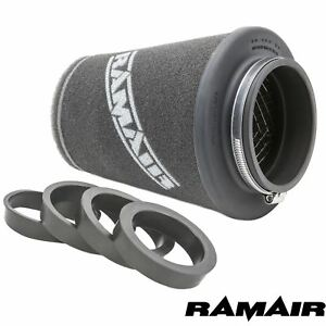 RAMAIR-90mm-UNIVERSAL-INDUCTION-FOAM-CONE-AIR-FILTER-WITH-REDUCING-RINGS