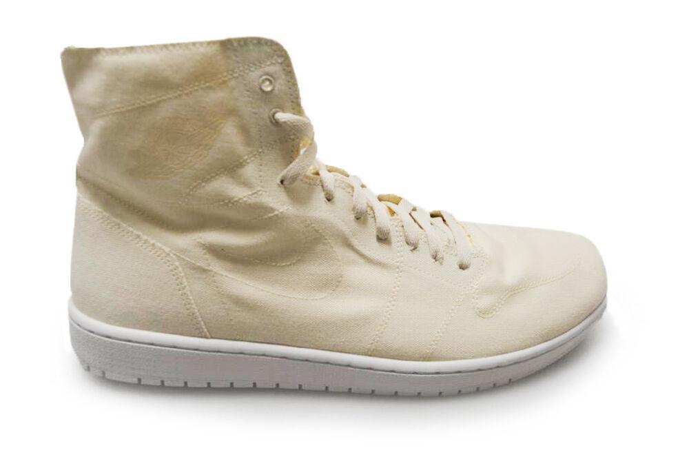 Homme Nike Air Jordan 1 Retro High Decon - 867338 100-Blanc cassé Tan Baskets- Chaussures de sport pour hommes et femmes