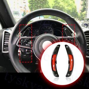 Details about 2X Carbon Fiber Paddle Shift For Porsche 911 991 718 PDK  Steering Wheel Shifter