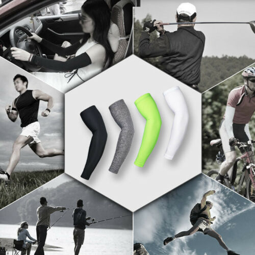 ARSUXEO Athletic Sport Skins Arm Sleeves Gloves Sun Protective UV Cover Cycling