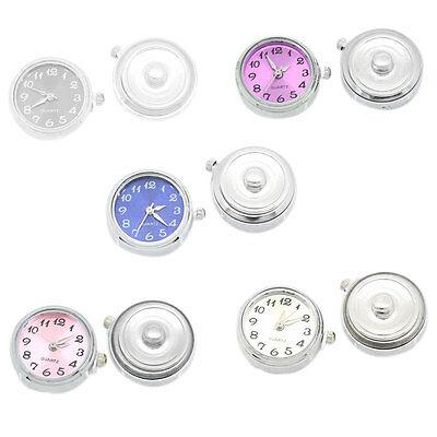 5 Klicks Druckknopf Uhr Clicks Klicks Snap Bead Buttons Uhr Mix 25mm x 21mm