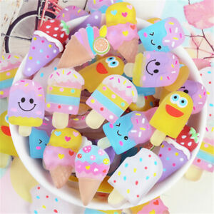 20-pack-Mixed-Resin-Ice-Cream-Bars-Cartoon-Flat-Back-Craft-Making-Embellishments