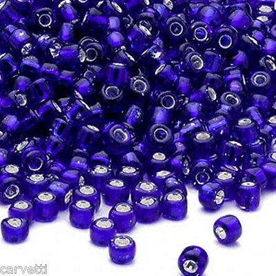 Cobalt Blue Silver Lined Glass Size 6/0 Seed Beads 400+/- E Beads