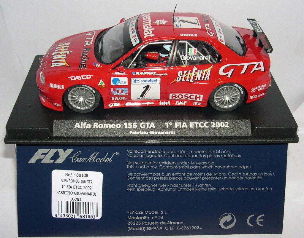 FLY 88108 A-781ALFA ROMEO 156 GTA ºFIA ETCC 2002 FABRIZIO GIOVANARDI MB