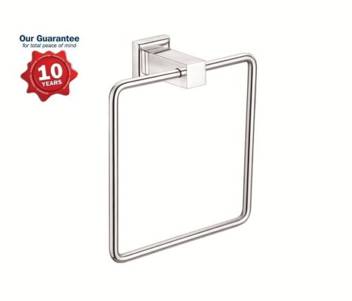 STAINLESS STEEL CHROME DESIGNER WALL ROUND TOWEL HOLDER RING BATHROOM ACCESSORY