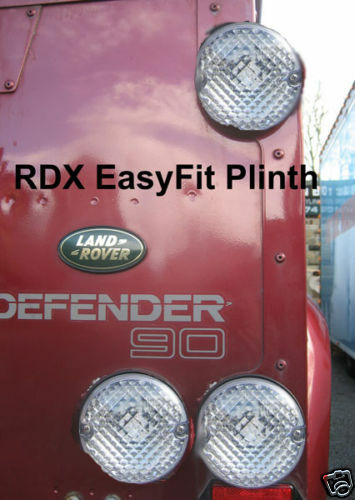 6 NAS ALL CLEAR Light//lamps RDX EasyFit Plinths LandRover Defender 1994 to 2001