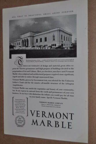 1929 Vermont Marble advertisement, the Detroit Institute of Arts