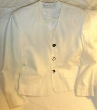 Evan Picone White Blazer Suit Jacket - Labeled Size 4 (More like size 10)