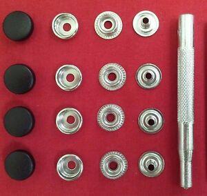 4 Bouton Pression Remplacement Réparation Réparer remorque capot Tonneau Mg Triumph Jaguar PL Noir  </span>