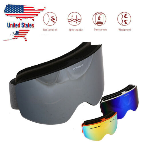 Details about  /1PC Adults Ski Snow Googles Snowboarding Skating Sprot Glasses Eyewear New