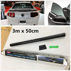 Details about New Black 50*300cm Home Car Side Window Glass Anti-Scratch  Tint Film Fitting Kit