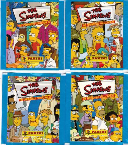 Italy Panini The Simpsons The Springfield Collection III stiker 4 Packs