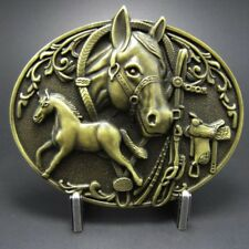 Buckle Ponyhof, Western, Cowboy, Pferd, Messing - Gürtelschnalle