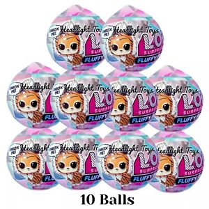NEW  LOL Surprise Winter Disco Fluffy Pets Sealed Balls IN HAND      LOT of 2