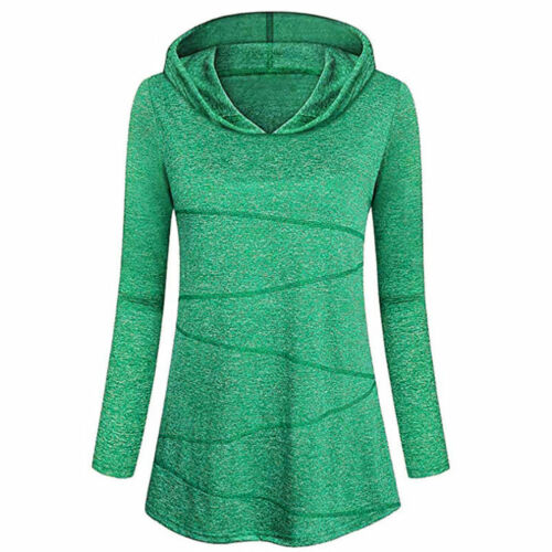 Womens Long Sleeve Over-size Pullover Hoodie Tunic Top Sweatshirt Sweater Jumper