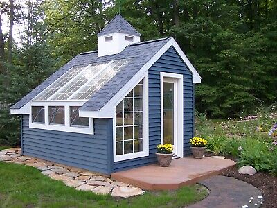 Material List Included #41010 10 x 10 Greenhouse Backyard Garden Shed Plans